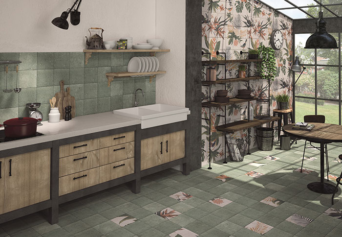 organic and natural element for tile design