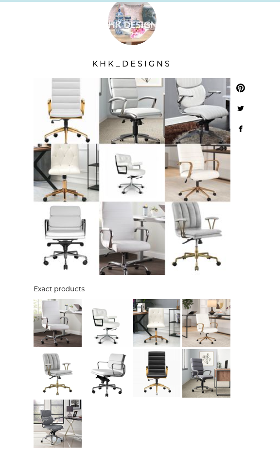 chic home office task chairs