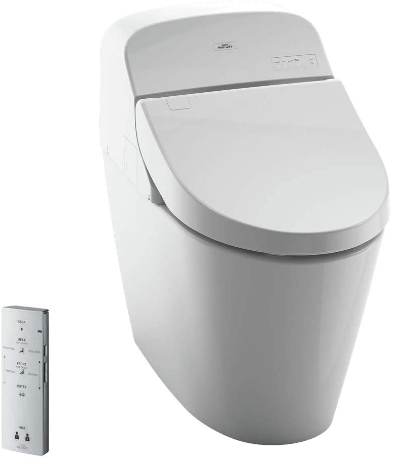 Toto MS920CEMFG01 1.28-GPF/0.9-GPF Washlet with Integrated Toilet G400, Cotton White