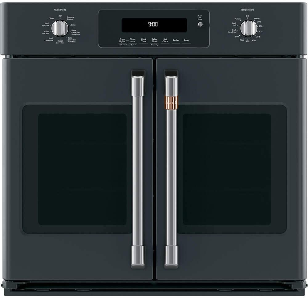 GE CTS90FP3MD1 Caf0233 30 Matte Black French Door Single Convection Wall Oven
