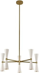 Kalco Lighting Kalco 310470WVB Contemporary Modern LED Chandelier from Milo Collection in White Finish