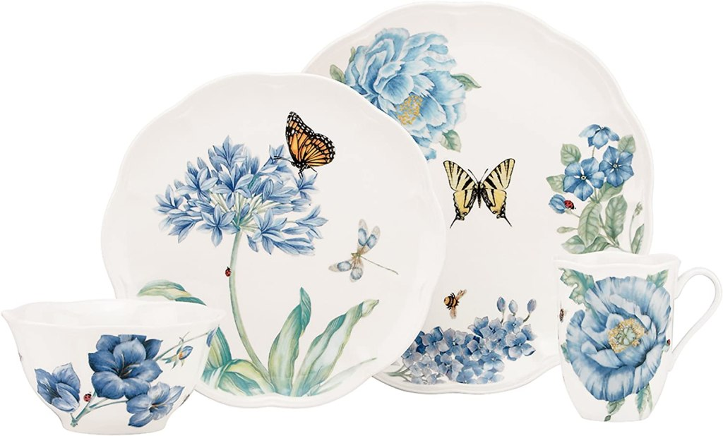 Lenox Blue Butterfly Meadow 4-Piece Place Setting, 5.10 LB mother's day gift