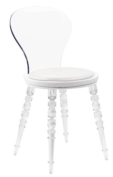 Adi Upholstered lucite acrylic Dining Chair (Set of 2)