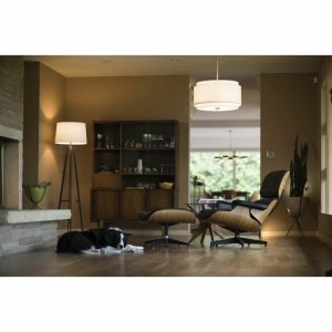 Amia 4 - Light Shaded Drum Chandelier