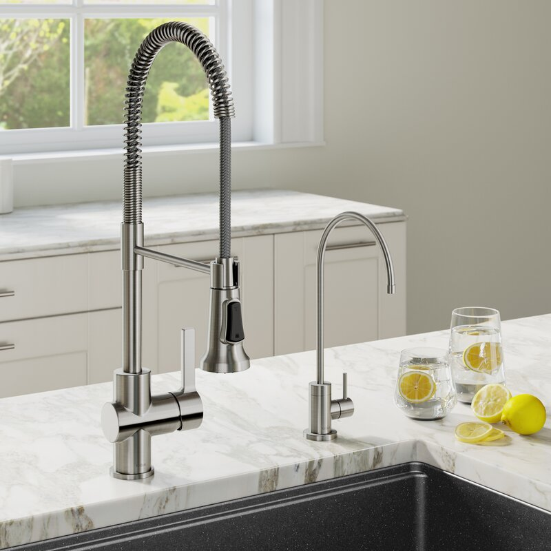 KPF-1690-FF-100SFS Britt™ Commercial Style Pull Down Single Handle Kitchen Faucet