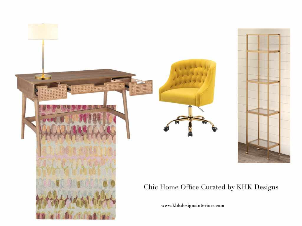 chic home office design with color