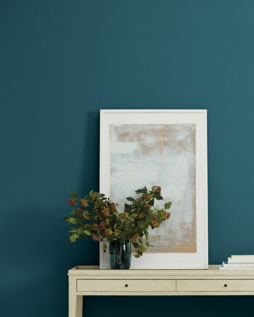Plunge 100 feet down into the deep blue sea. This bold, sophisticated blue hue features a hint of green undertones.