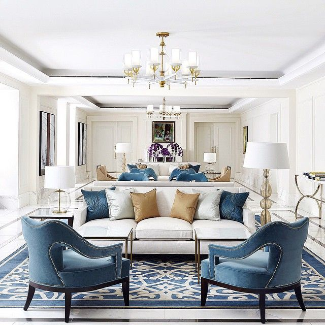 modern living room with tailored upholstered seating