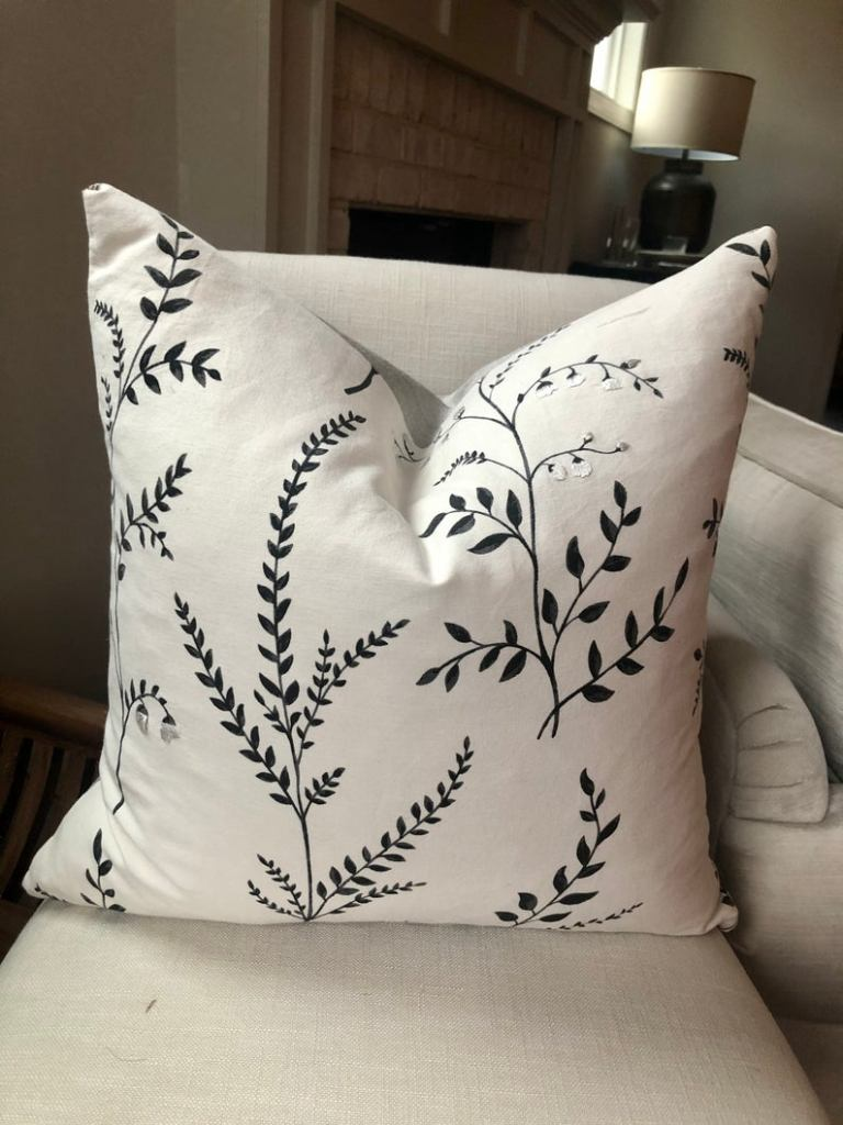 Schumacher Cynthia Embroidered pillow cover