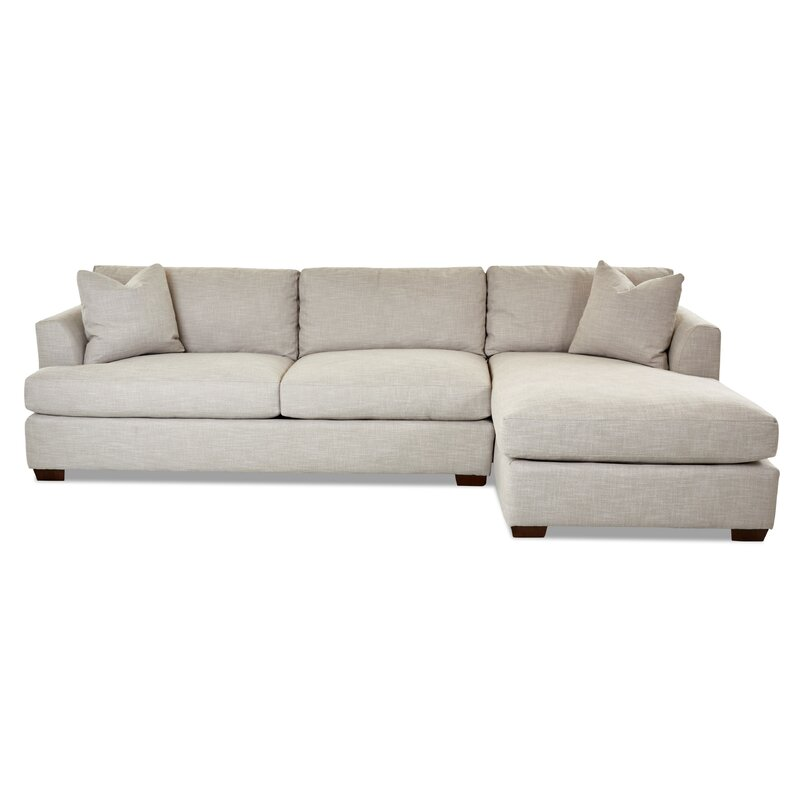 """Lazar 128"""" Wide Right Hand Facing Sofa & Chaise"""