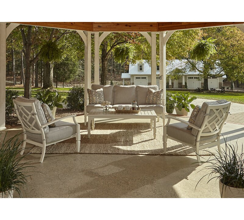 Mimosa 4 Piece outdoor Sofa Seating Group with Sunbrella