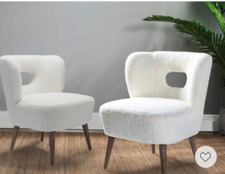 Memorial Day Sale— this pair of chic and comfy boucle chairs are just so adorable and will absolutely fresh up any space with simplicity.