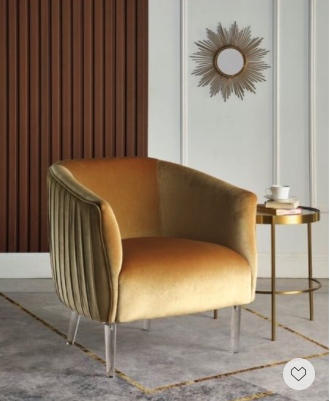 Memorial Day Deal—- this chic velvet lounge chair with acrylic legs will add stunning addition to any space.