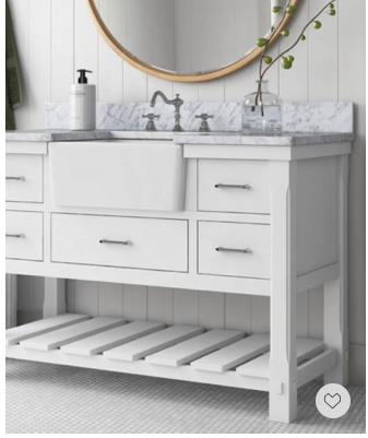 Memorial Day Sale—White is forever timeless. This stunning white modern farmhouse bath sink will add a touch of refined vibe to your space.
