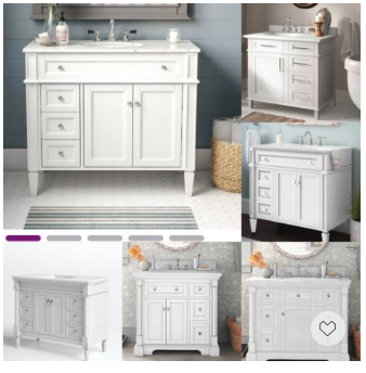 Memorial Day Sale— Looking for transitional bath vanities? our handpicked white vanities are the perfect answer thanks to their clean-lined yet to-the-detail design.