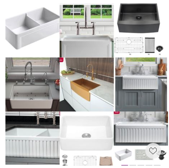 These highly-rated modern farm house kitchen sinks (aprons) cove surf different sizes and materials and are in sale.