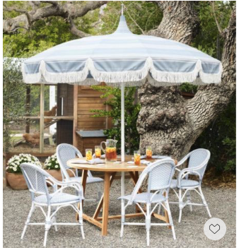 We cannot wait many more Alfresco dining for the coming summer. This French bistro outdoor dining set has a chic relaxing coastal vibe and now everything is 20% off with code DIVEIN