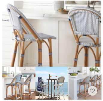We are in love with these chic Sunwashed Riveria French bistro bar chairs. They bring in a touch of casual elegance to any space. Now everything is 20% off with code DIVIEIN.