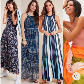 Summer Ready — casual, elegant, feminine and youthful! These chic maxi dresses are on sale. Final Sales