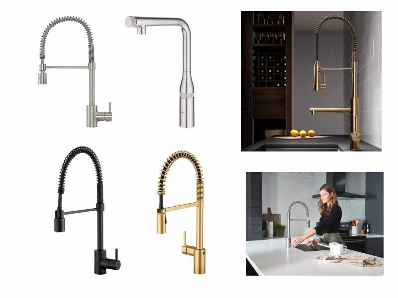 high-quality semi-pro pre-rinse kitchen faucets