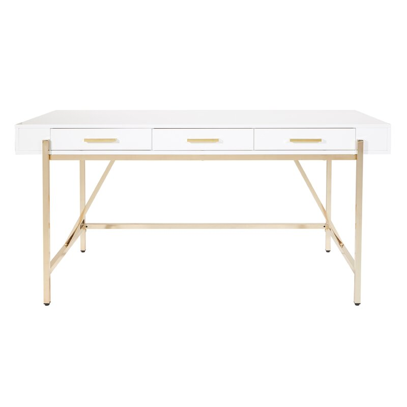 Vallee Writing Desk with brass frame