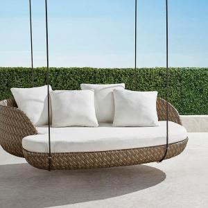 Malia Hanging Daybed in Pebble Finish