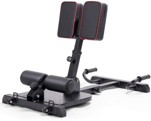 leikefitness Deluxe Multi-Function Deep Sissy Squat Bench Home Gym Workout Station Leg Exercise Machine Black-8400