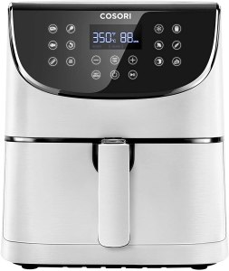 COSORI Air Fryer XL(100 Recipes) Digital Hot Oven Cooker, One Touch Screen with 13 Cooking Functions, Preheat and Shake Reminder, 5.8 QT, Creamy White
