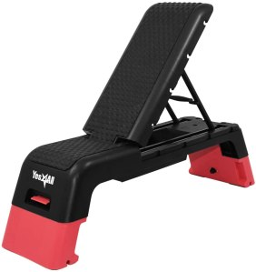 Yes4All Multifunctional Aerobic Deck - Versatile Fitness Station, Weight Bench, Aerobic Stepper, Plyometrics Box for Cardio Workouts and Strength Training