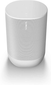 Sonos Move - Battery-Powered Smart Speaker, Wi-Fi and Bluetooth with Alexa Built-in - Lunar White