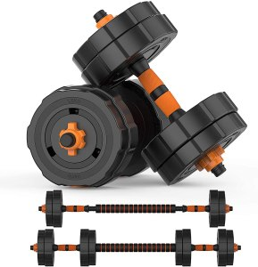 BOSWELL Adjustable Weights Barbell Dumbbells Set, Weights Dumbbells Non-Slip Neoprene Hand Weights with Connecting Rod for Adults Women Men Fitness,Home Gym...
