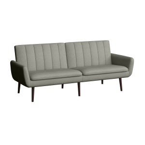 Homeavale Tanglis Channel Tufted Convert-a-Couch Sofa Sleeper, Gray