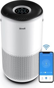 LEVOIT Air Purifier for Home Large Room, Smart WiFi and Alexa Control, H13 True HEPA Filter for Allergies, Pets, Smoke, Dust, Auto Mode, Monitor Air Quality with PM2.5 Display, Core 400S, White