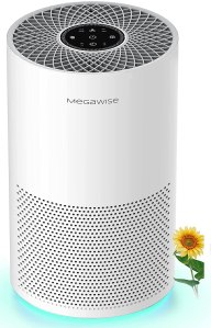 MegaWise Smart Air Purifier for Home Large Room up to 540ft², H13 True HEPA Filter with Smart Air Quality Sensor, Sleep Mode, Quiet Air Cleaner for...