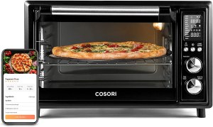 COSORI Air Fryer Toaster Oven Combo Smart 12-in-1 Countertop Dehydrator, 100 Recipes & Accessories Included, Work with Alexa, 30L, WIFI-Black