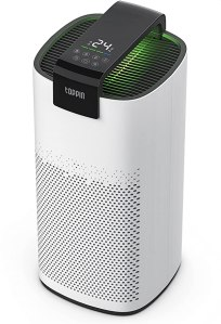 TOPPIN H13 HEPA Filter Air Purifier Large Room - with Fragrance Sponge, 24db 4 in 1 Filtration System Capture 99.97% Allergens, Smoke, Odor, Dust, Pet Dander, with Timing, Child Lock, Air Quality Lights, Manual Auto Sleep Modes