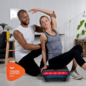 LifePro Rumblex 4D Pro Vibration Plate - Whole Body Vibration Platform Exercise Machine - Home Workout Equipment for Weight Loss, Toning & Wellness - Full Bundle of Bands, Straps & Accessories