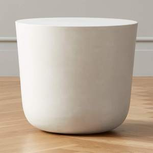 CAP IVORY CEMENT SIDE TABLE