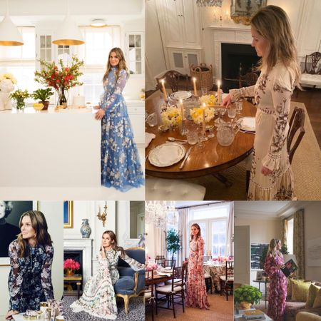 Celebrity Style—- we just cannot get enough all of these Aerin Launder's stay-at-home floral dresses. Wouldn't be nice to just clip the garden flowers, have a good read , set up a beautiful table or just sit by the fireplace and do nothing over the weekend? But the key thing is that we've got to carry on all of these activities in our favorite floral dresses. They set up a mood. Shop these casual, comfy and elegant floral dresses we handpicked just for you. Summer Floral Dresses stay-at-Home style #LTKSeasonal