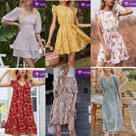 Besides hiking and running over weekends, we also love to set up a beautiful picnic table in the backyard. These unique-found casual floral dresses will put you in a romantic mood and make you photo-ready to create a beautiful memory.