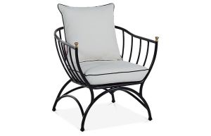 Frances outdoor Accent Chair - White/Black