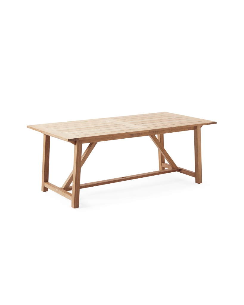 Crosby Teak Expandable Dining Table – Natural