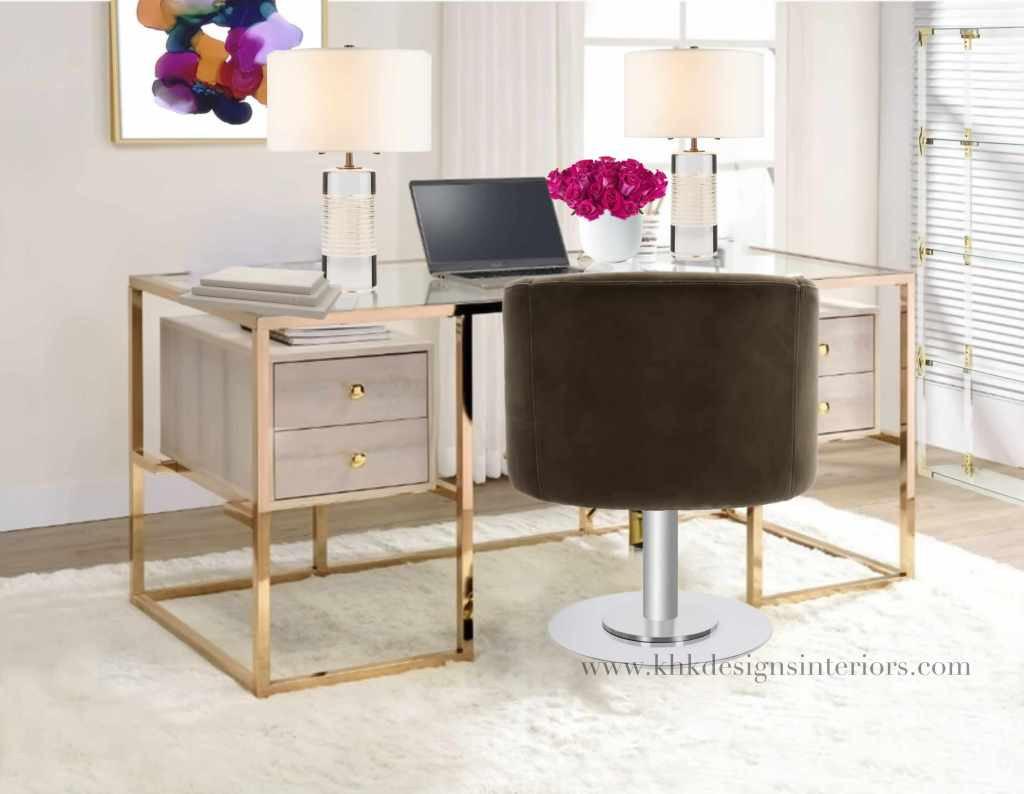 chic and glam home office