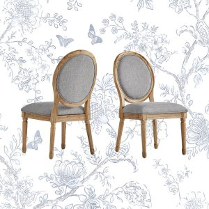 Libretto Linen Upholstered Side Chair (Set of 2)