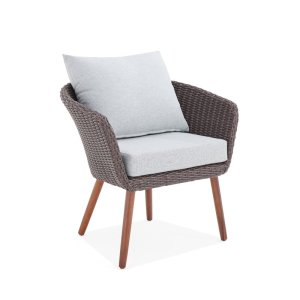 Panek Patiowicker  Chair with Cushions (Set of 2) midcentury modern
