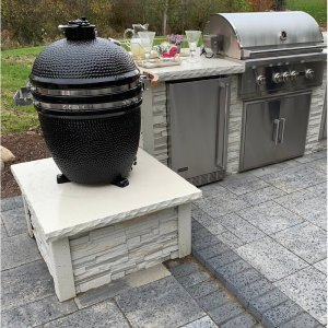 """RTA Outdoor Living 30"""" 1-Piece 1-Burner Charcoal Grill Island"""