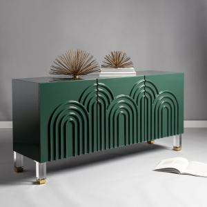 Safavieh Couture Saturn Wave Acrylic Sideboard - Moss