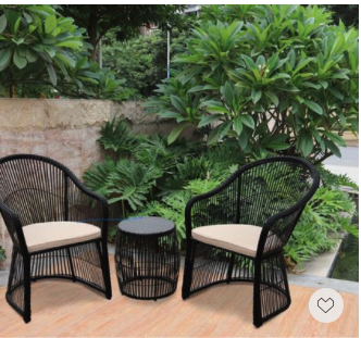 Memorial Day Seal— love, love, love this pair of black wicker conversation chairs.
