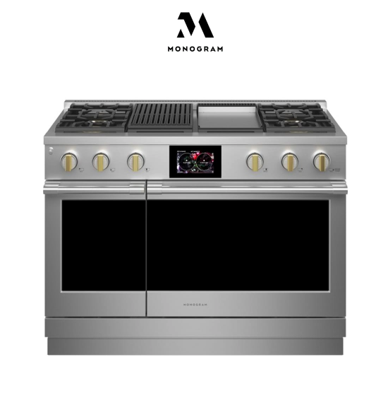 Monogram48 Inch Wide 8.25 Cu. Ft. Dual Fuel Range with Griddle and Grill