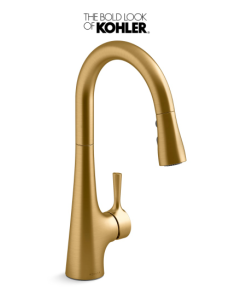 KohlerTempered 1.5 GPM Single Hole Pull Down Kitchen Faucet